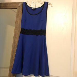 Blue form-fitting dress